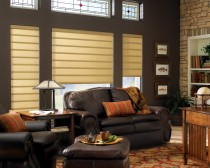 Vignette® Tailored™ Modern Roman Shades with EasyRise™ cord loop