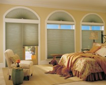 Applause® honeycomb shades with Cordlock