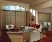 Designer Screen Shades + Skyline® Panels with Cordless system