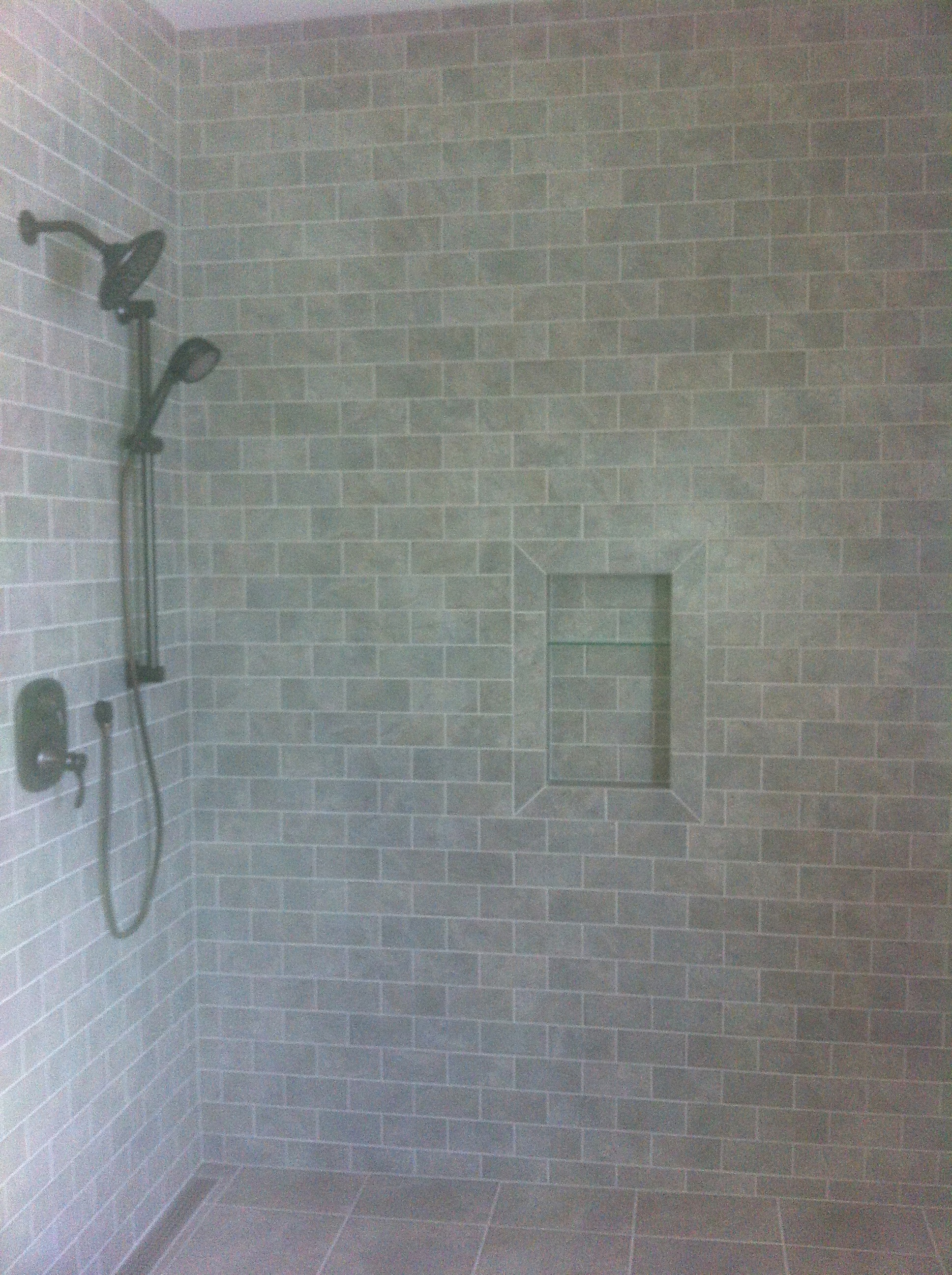 Custom Walk In Shower Using Schluter 174 Kerdi Line Drain